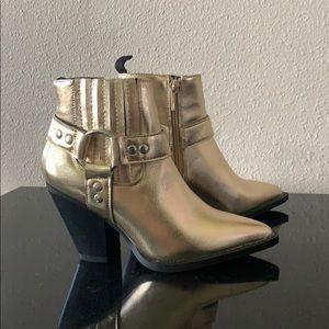 Gold Cowboy/girl Booties